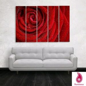 Multiple Frames Rose Floral Wall Painting