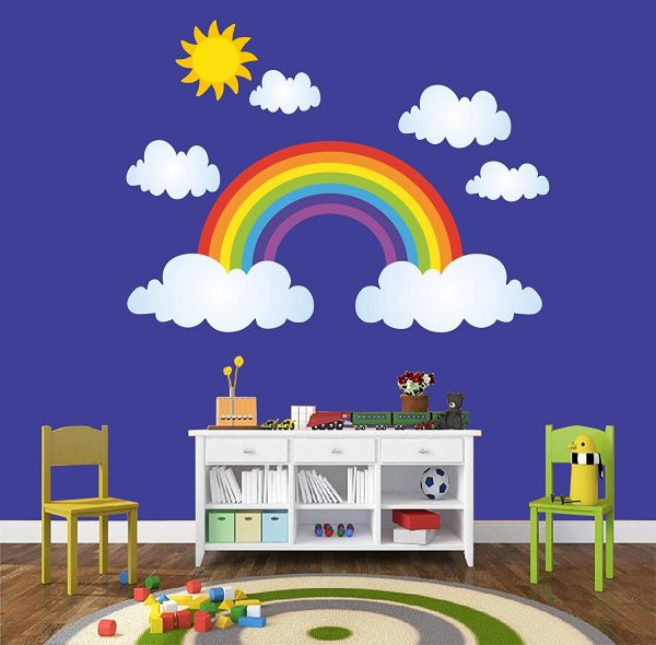 Rainbow and Clouds Kids Decorative Wall Sticker