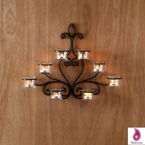 Wall Sconce With Candle Holders